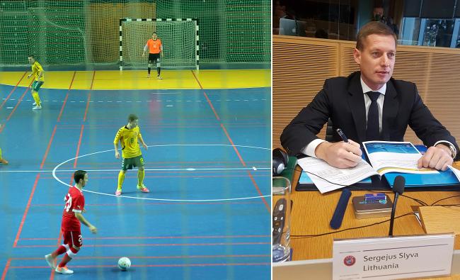 UEFA komitetui pristatyta Lietuvos paraiška dėl Pasaulio Futsal čempionato