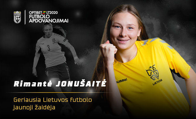 Geriausia jaunąja metų futbolininke antrus metus iš eilės tapo Rimantė Jonušaitė