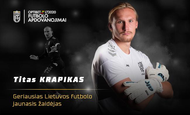 Geriausias jaunasis Lietuvos metų futbolininkas – Italijoje savo vertę įrodinėjantis Titas Krapikas