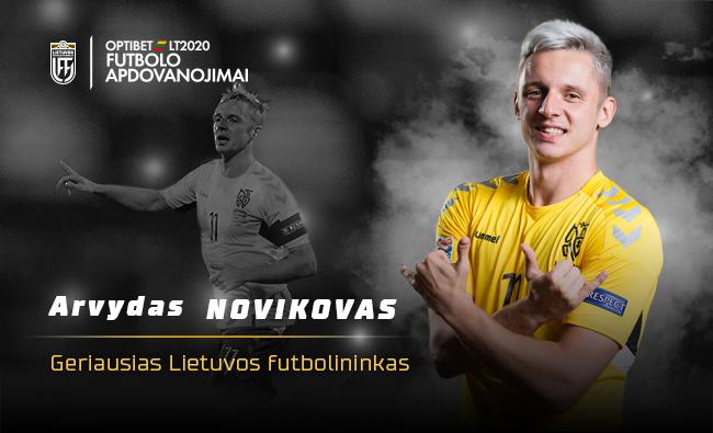Geriausiu Lietuvos futbolininku antrą kartą karjeroje tapo Arvydas Novikovas