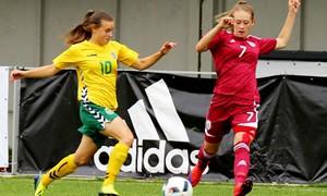 Moterų rinktinė finišavo lygiosiomis su Estija