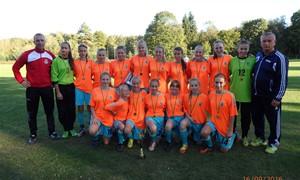 Lietuvos merginų futbolo 8x8 čempionato finale prireikė baudinių serijos