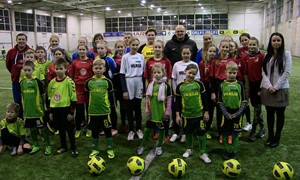 Vilkijos vaikai dieną praleido Nacionalinėje futbolo akademijoje