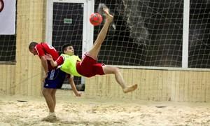 Paplūdimio futbolo pirmenybėse – penki G. Mikulėno įvarčiai
