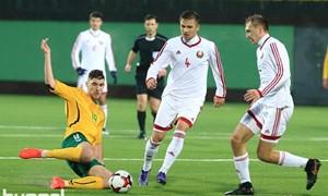 Kontrolinėse rungtynėse po atkaklios kovos nusileista Baltarusijai