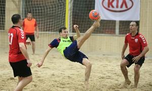 Paplūdimio futbolo pirmenybėse baigtos reguliaraus etapo kovos