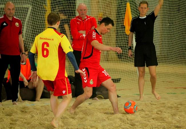 Paplūdimio rinktinė išbandė jėgas prieš Baltarusijos vicečempionus