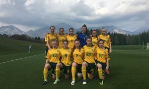 Merginų rinktinė Slovėnijoje dalyvauja kontroliniame turnyre