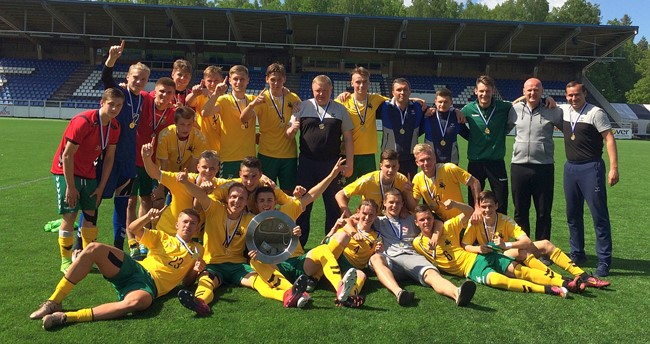U-19 rinktinė iškovojo Baltijos taurę