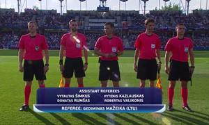 Europos U-21 čempionate - lietuviškos teisėjų komandos debiutas