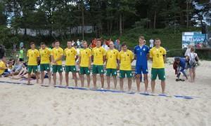 Paplūdimio futbolo rinktinė išvyko į Europos lygos varžybas