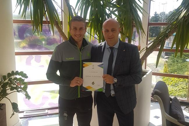 V. Slavickas išsilaikė LFF C licenciją