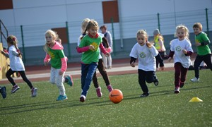 Gargžduose – darželinukų futbolo šventė