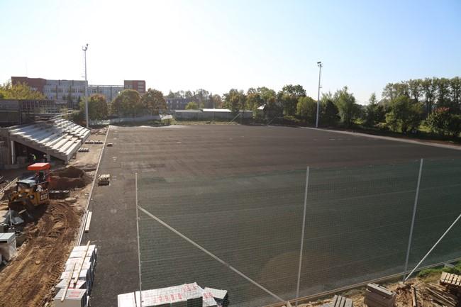 Artėja Širvintų stadiono statybų pabaiga