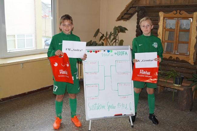 Su jaunųjų žalgiriečių pagalba ištraukti LVJFA taurės turnyro burtai