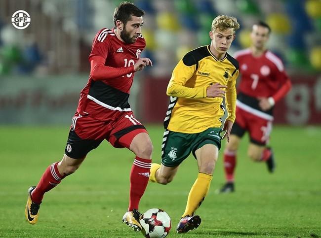 Mažumoje žaidusi U-21 rinktinė patyrė nesėkmę Gruzijoje