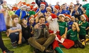 """Nuotaikingos """"Futboliuko Kalėdos"""" aplankė ir Kauną"""
