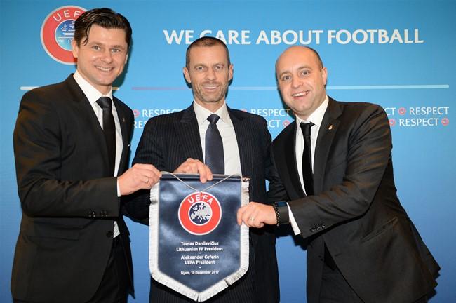 Pavasarį Lietuvoje lankysis naujasis UEFA prezidentas A. Čeferinas