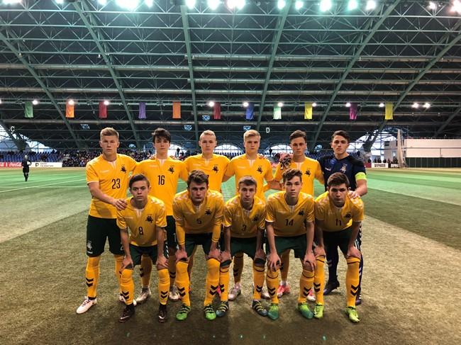 U-18 rinktinė minimaliu rezultatu nusileido Belgijai