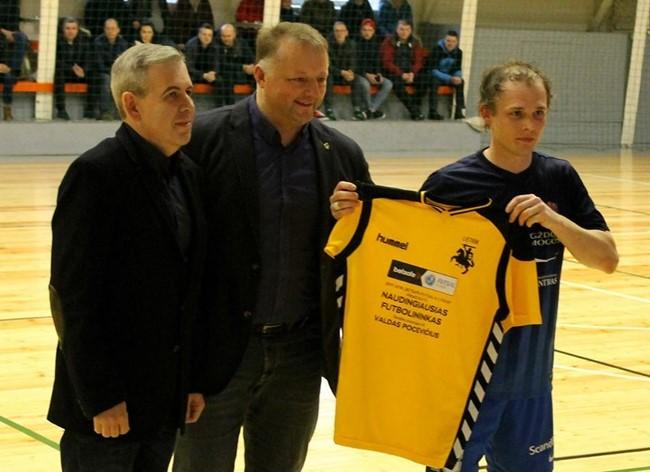 """V. Pocevičius – naudingiausias """"Betsafe-Futsal A lygos"""" pirmo rato žaidėjas"""