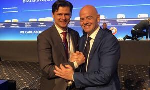 Po produktyvių FIFA forumo ir UEFA kongreso T. Danilevičius susitiks su G. Infantino
