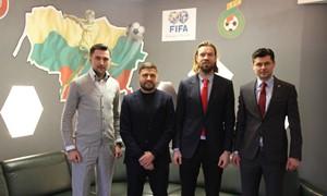 LFF prezidentas susitiko su Latvijos futbolo legendomis