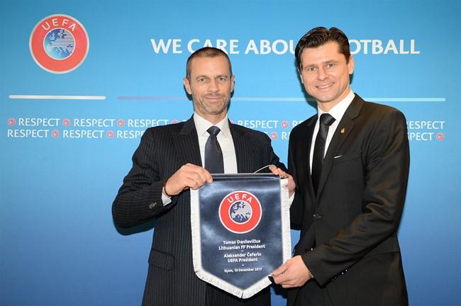 Lietuvoje kitą savaitę lankysis UEFA prezidentas