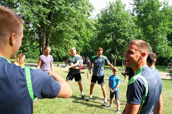 U-21 rinktinė lankėsi Gargždų sporto šventėje