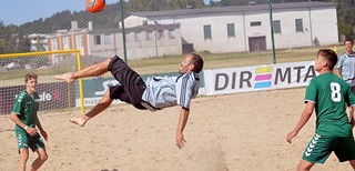 Paplūdimio futbolo čempionatas startavo ypatinga švente