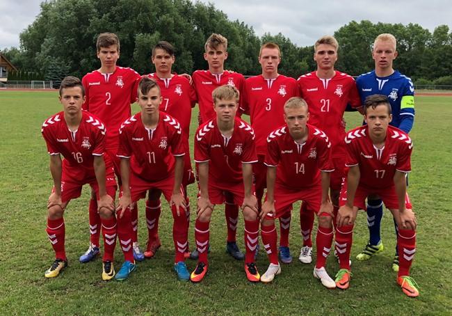 Baltijos taurės turnyrą U-17 rinktinė baigė pralaimėjimu
