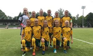 WU17 rinktinė startavo pergale Baltijos taurės turnyre