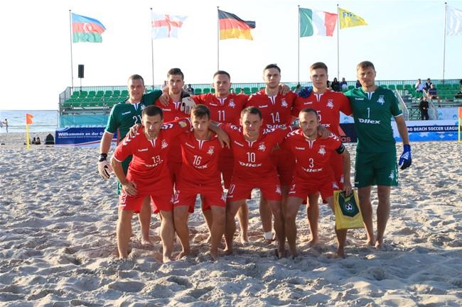 Paplūdimio rinktinė išbandys jėgas su Latvijos komanda