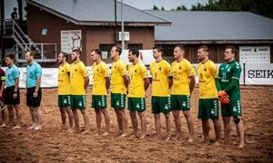 Paplūdimio rinktinės rungtynėse su Latvija – eksperimentai ir pergalė