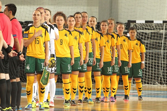 Varžovės Europos moterų futsal čempionato atrankoje paaiškės vasario 13-ąją