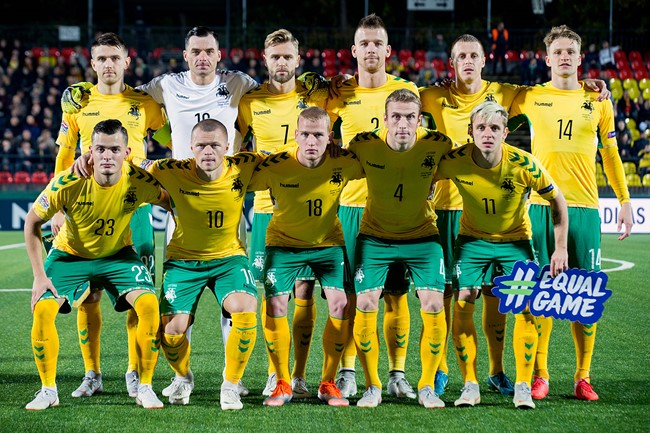 Lietuvos rinktinės sudėtis Tautų lygos rungtynėms