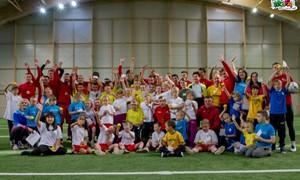 """""""Sūduvos"""" futbolininkai džiugino specialiųjų poreikių turinčius vaikus"""