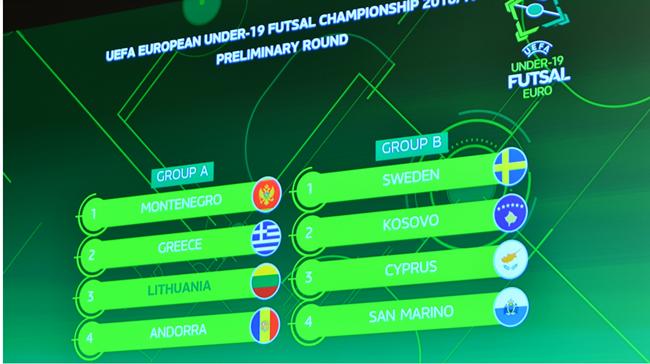 Ištraukti pirmojo Europos U-19 futsal čempionato atrankos burtai