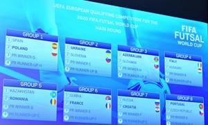 Ištraukti futsal pasaulio čempionato Europos zonos atrankos burtai