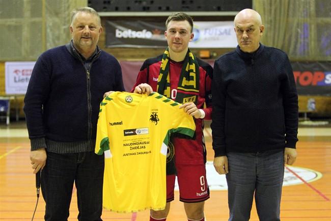 J. Zagurskui – naudingiausio žaidėjo apdovanojimas