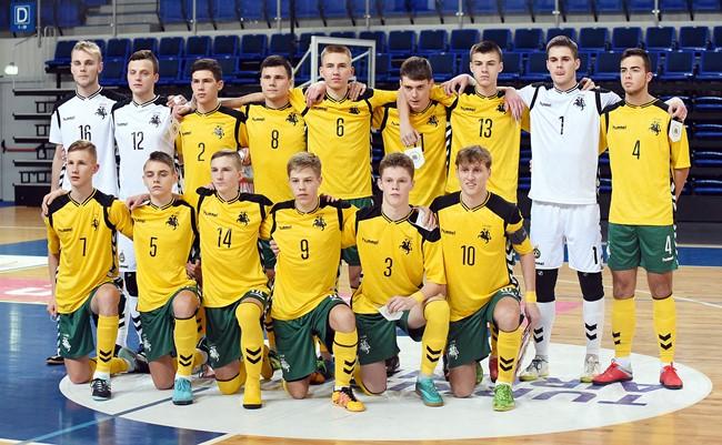 U-19 futsal rinktinei nepavyko debiutuoti pergale