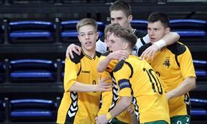 U-19 futsal rinktinė pasiekė istorinę pergalę