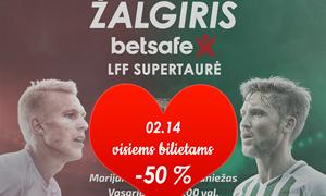 Vasario 14 d. proga – perpus pigesni bilietai į LFF Supertaurės rungtynes