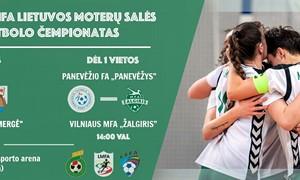 LMFA moterų futsal čempionato finalas vyks Jonavoje