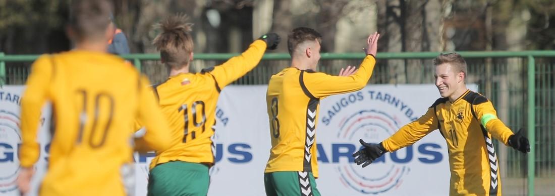 """U-21 rinktinė nugalėjo """"Stumbro"""" klubą"""