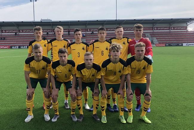 U-17 rinktinė pasiekė pergalę prieš Farerų Salų komandą