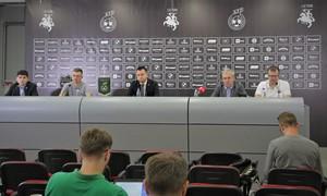 Diskusijoje aptarti aktualūs pasaulio futsal čempionato ir rinktinės klausimai