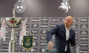 """Ištraukti """"SHARP LFF taurės"""" ketvirtfinalio burtai"""