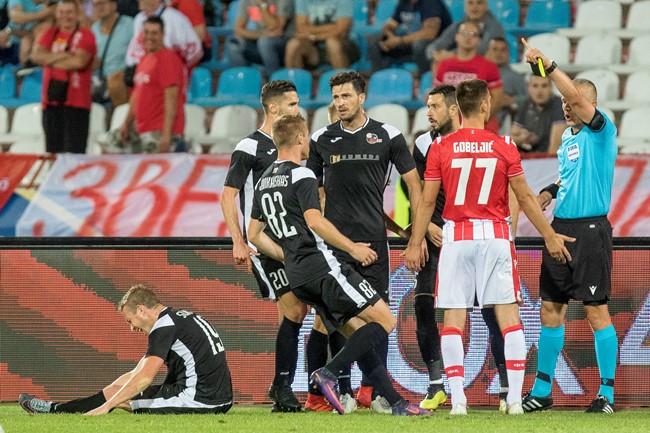 LFF kreipėsi į UEFA drausmės komitetą dėl V. Slavicko traumos