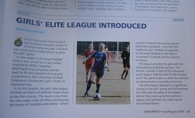 UEFA žurnale – dėmesys Merginų elitinei lygai
