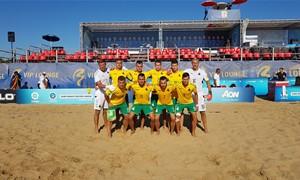 Paplūdimio rinktinė sutriuškino Moldovą